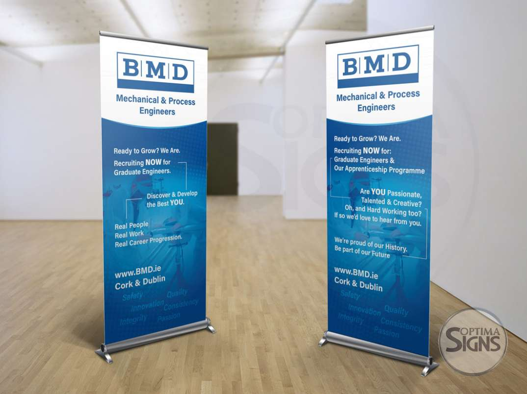 Printed Roll up banner Cork