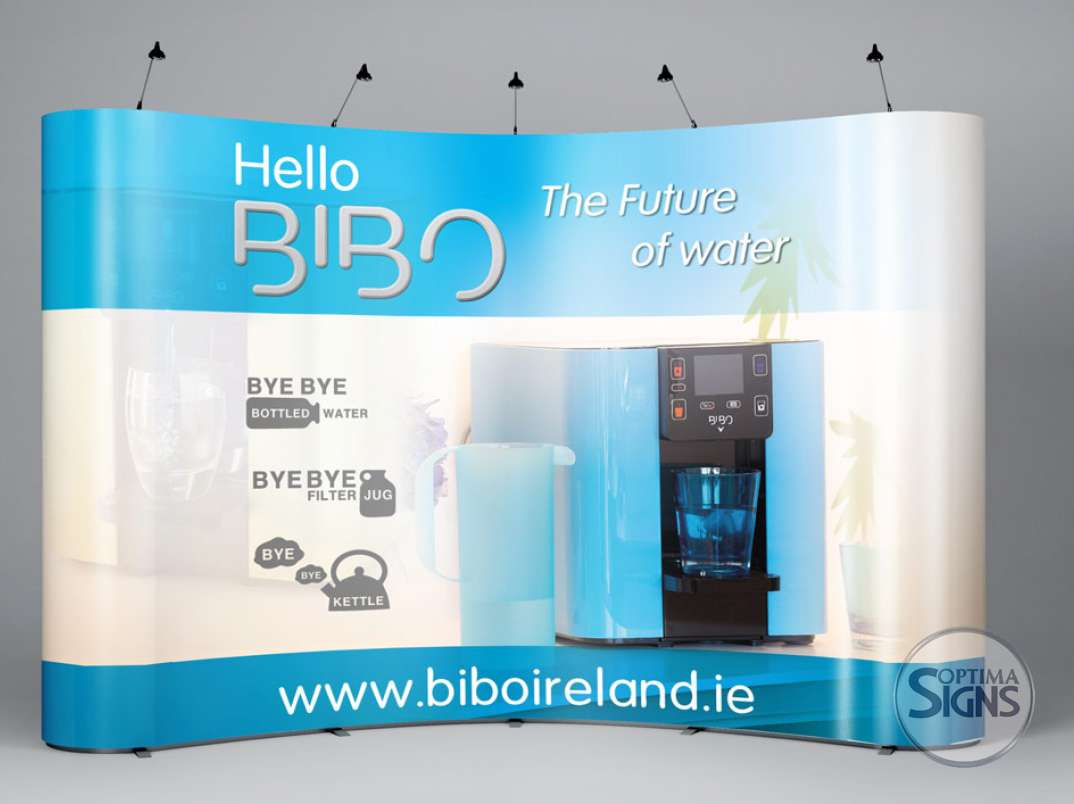 Pop Up Exhibition Display Optima Signs Signage Cork