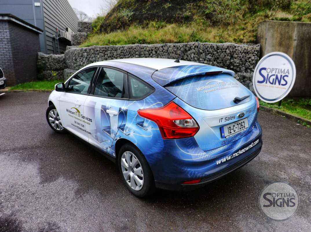 partial commercial car wrap cork