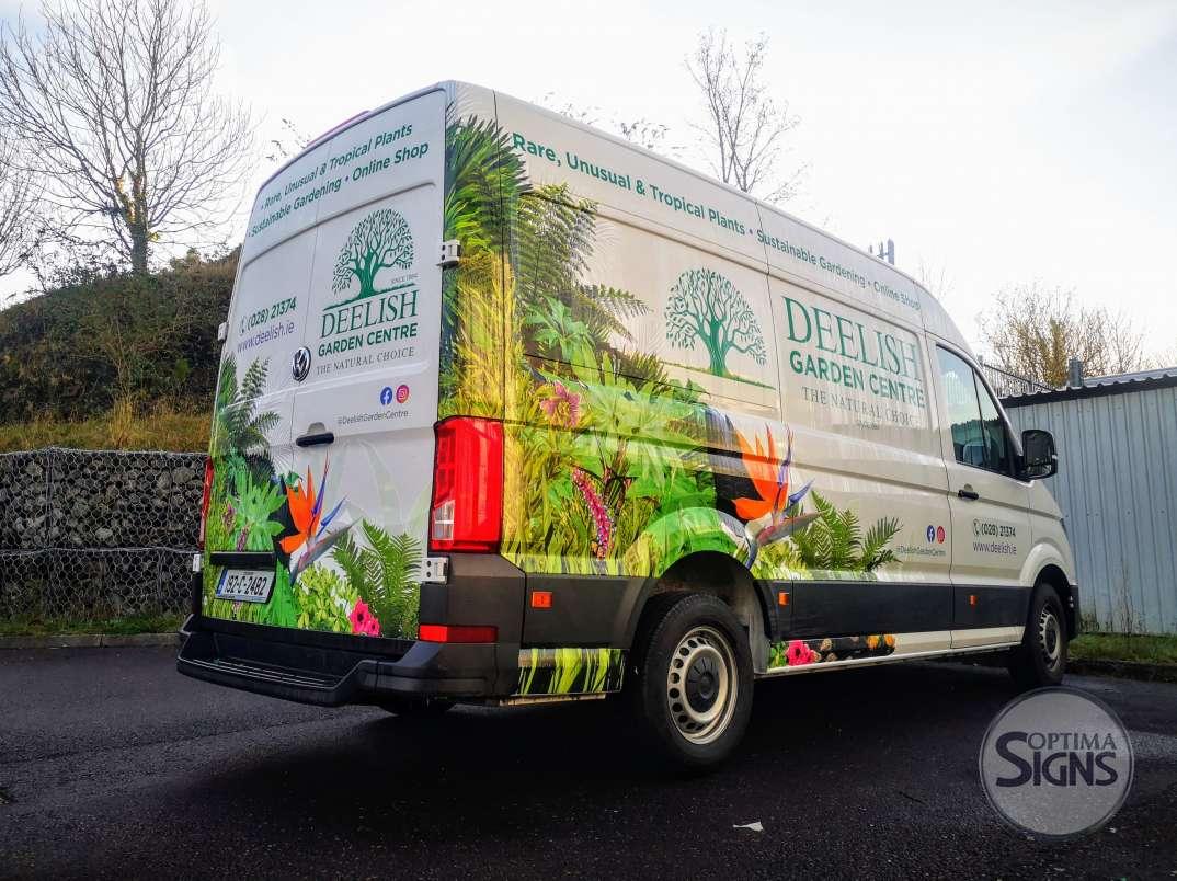 Deelish Garden Centre Vehicle half partial wrap