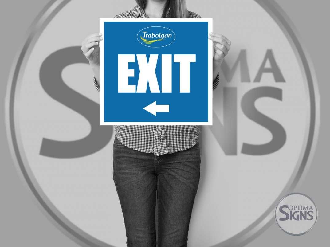 Exit Information Sign