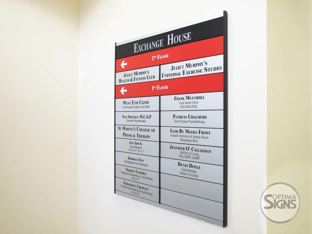Exchange House directional sign system