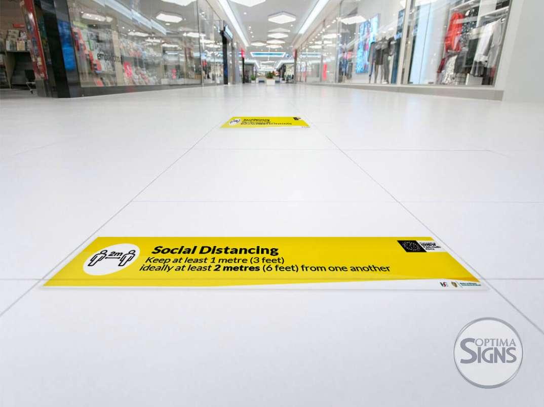 Coronavirus Social distancing floor stickers
