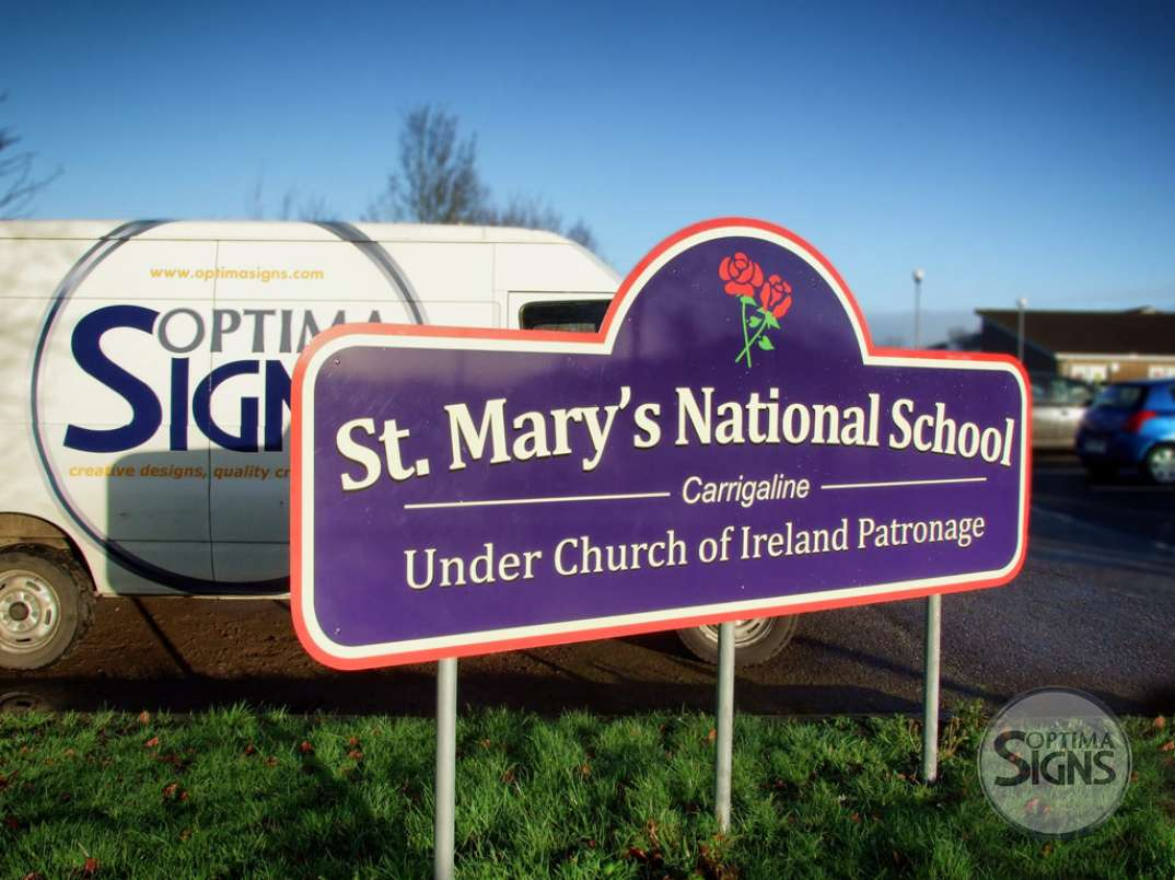 St. Marys National School post sign