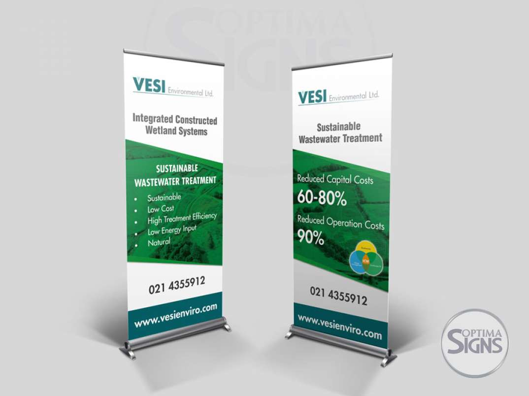 Vesi Environmental Pull up banners