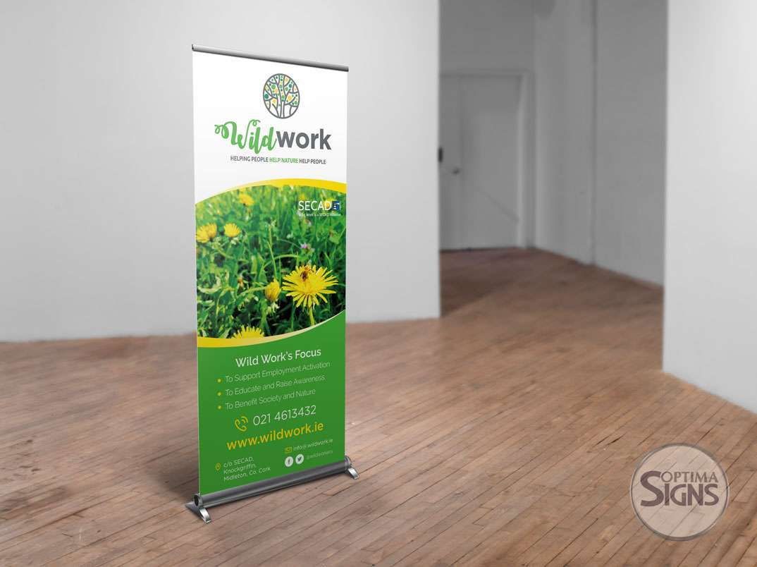Pull up banner Cork SECAD