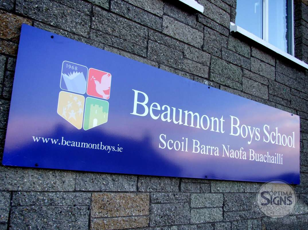 Built up school signs Cork