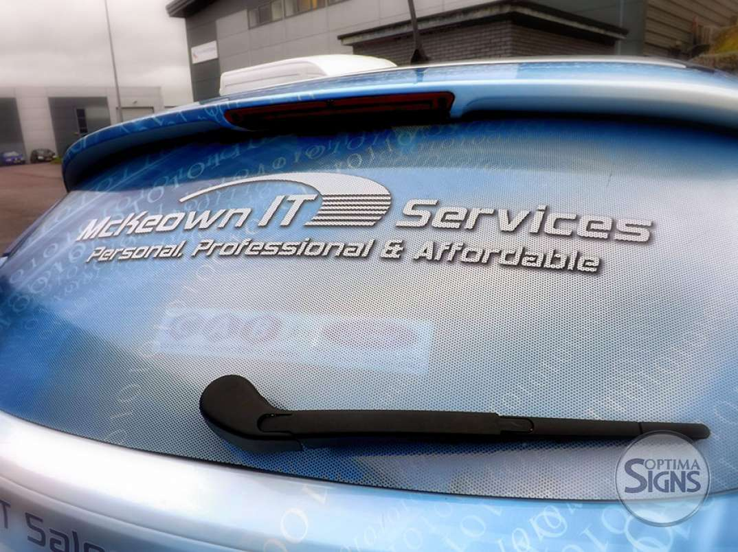 car rear windscreen decals