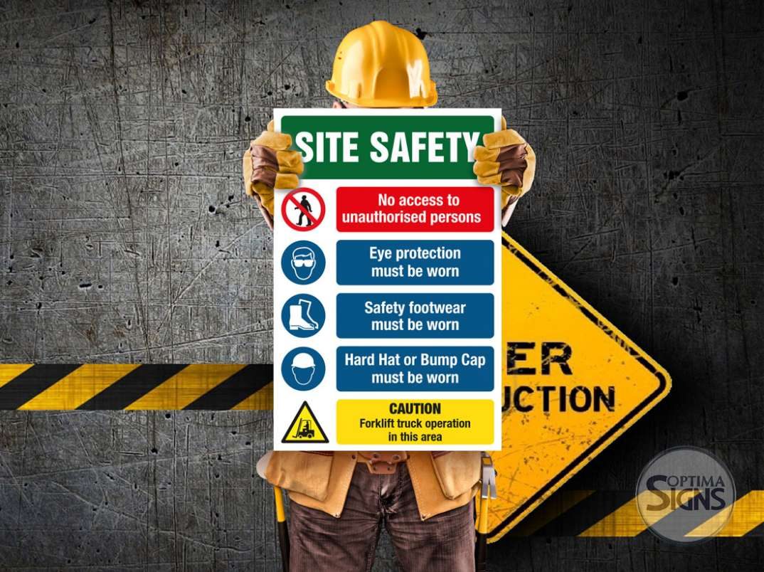 construction PPE sign Cork