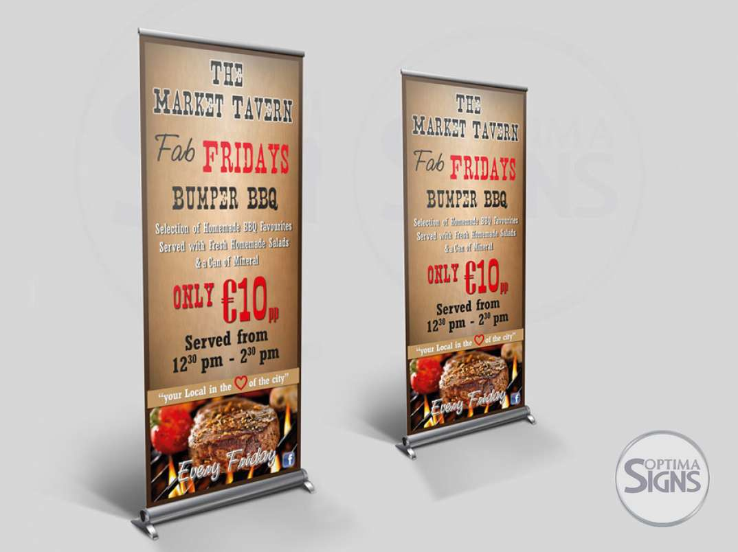 The Market Tavern pull up banner