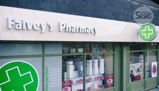 Pharmacy shop front signs