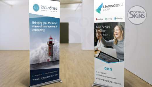 ReganStein_Leading Edge_Cork_printed pop up banner
