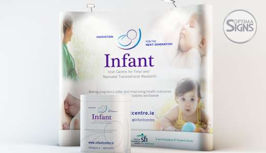UCC Infant Cork popup exhibition banner