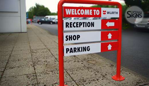Directional signs Wurth Cork