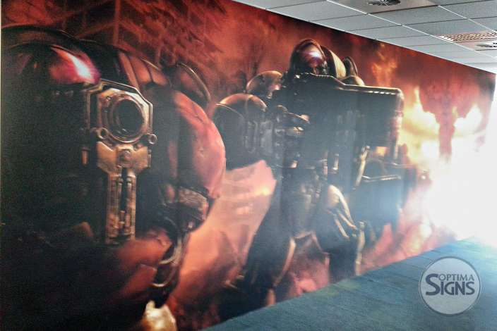Blizzard Cork Starcraft theme wall graphic