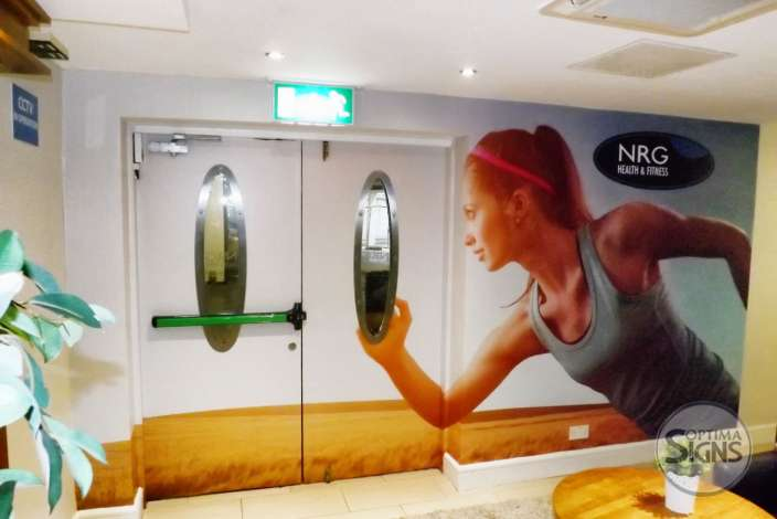 NRG fitness wall graphic Gallway