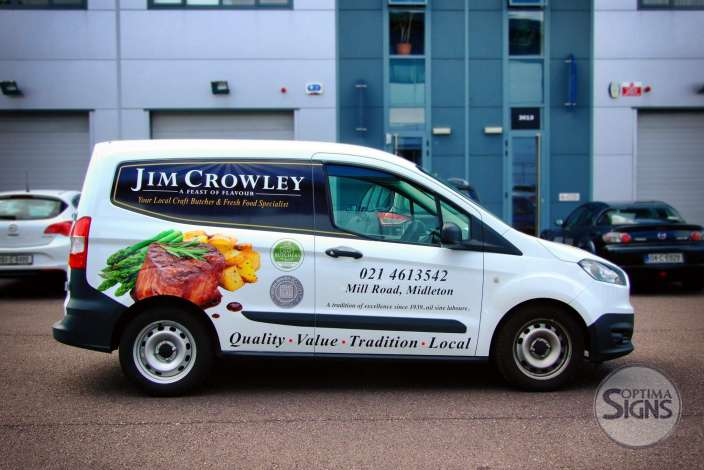 Jim Crowley Craft Butchers vehicle graphics