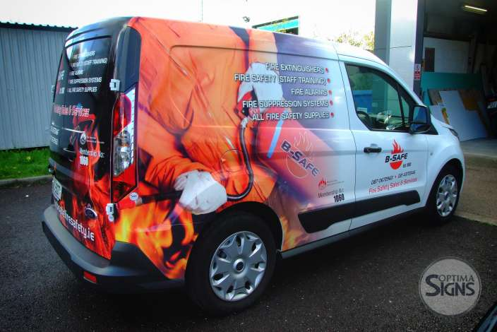 B-Safe Fire & Safety VAN partial wrap