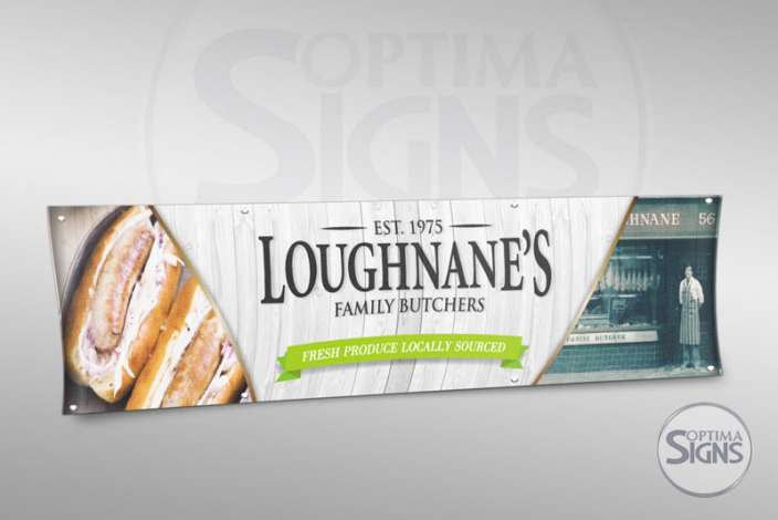 Loughnanes butchers banner Cork