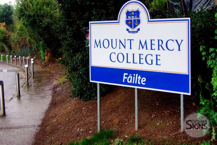 Mount Mercy College Cork signage