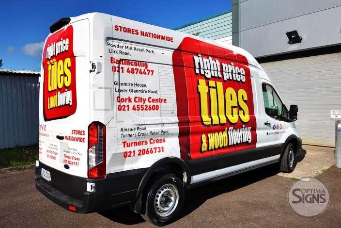 Right Price Tiles Vehicle wrap